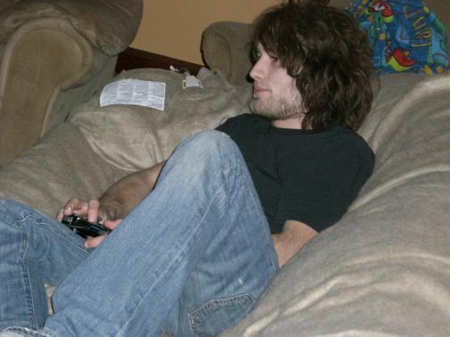 Nick playing Tekken
