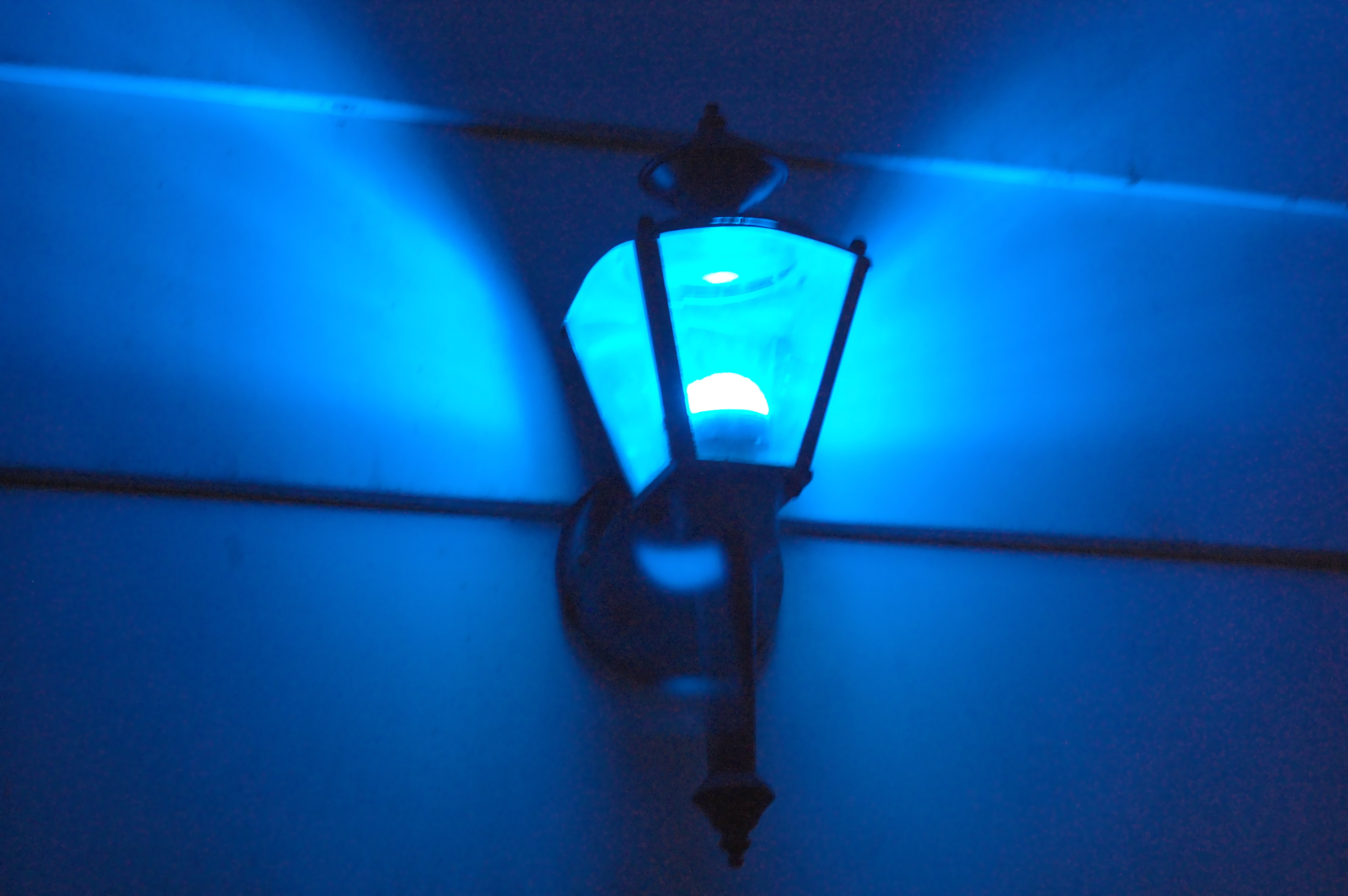 New Porch Light. Blue LED Photo Gallery
